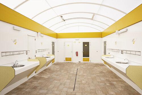 Binnenkant Sanitair paviljoen